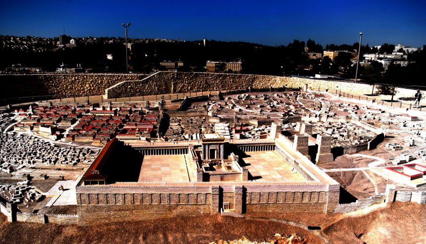 Second Temple Model on the Israel Museum Campus, Jerusalem, Israel. © Charles E. McCracken Archives.