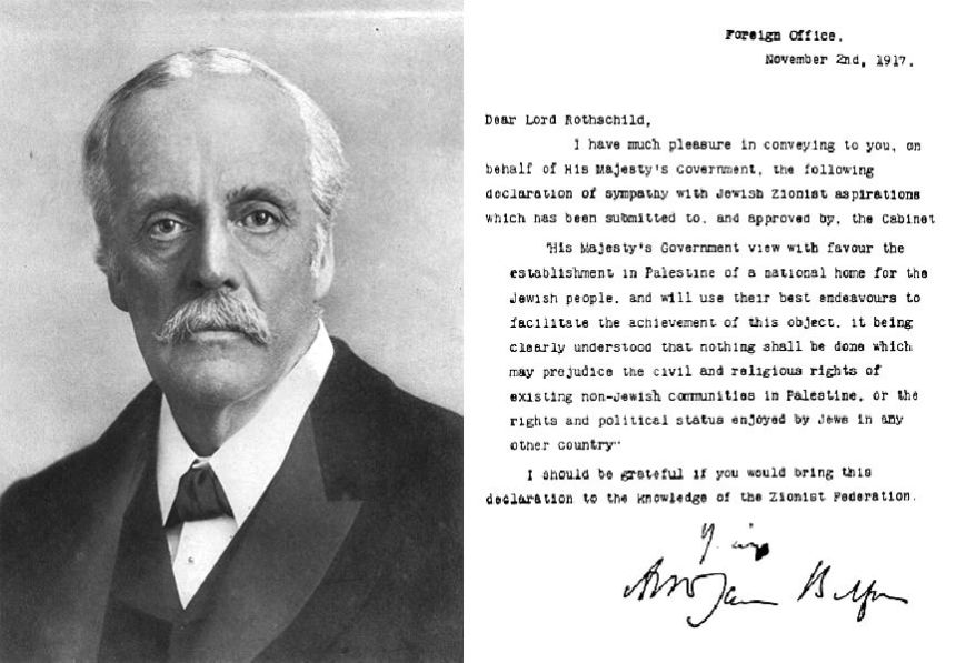 Balfour Portrait and Declaration.