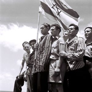 Buchenwald Survivors Arrive In Haifa.