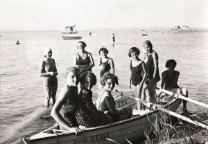 Jane Haining and her girls at Lake Balaton during summer holidays spent in a rented villa.