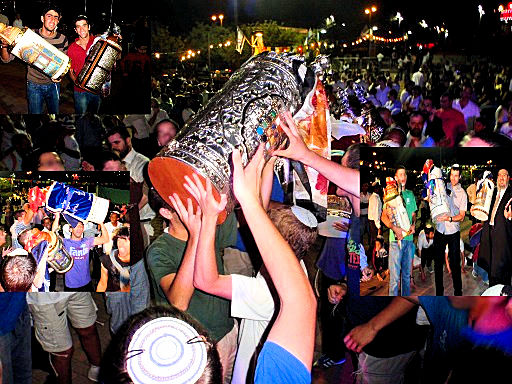 Simchat Torah celebration, September 26, 2013 at Yokneam City Hall, Israel.