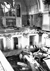 10_Interior of the Zerrennerstrasse synagogue in Pforzheim after its destruction on Kristallnacht, November