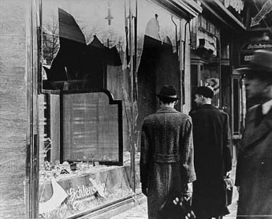 14_The day after Kristallnacht. German citizens look the other way on November 10 1938