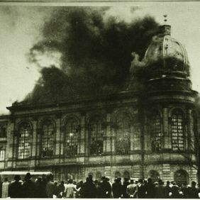 6_Frankfurt am Main Synagogue burning during Kristallnacht
