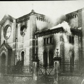 7_Ludwigsburg Synagogue; Burning on Kristallnacht; November Pogroms.