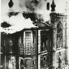 9_Wiesbaden Synagogue Burning; Kristallnacht Pogroms; November 9, 1938.