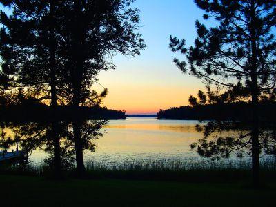 Sunset on Bass Lake. Copyright © 2016, Charles E. McCracken Archives.