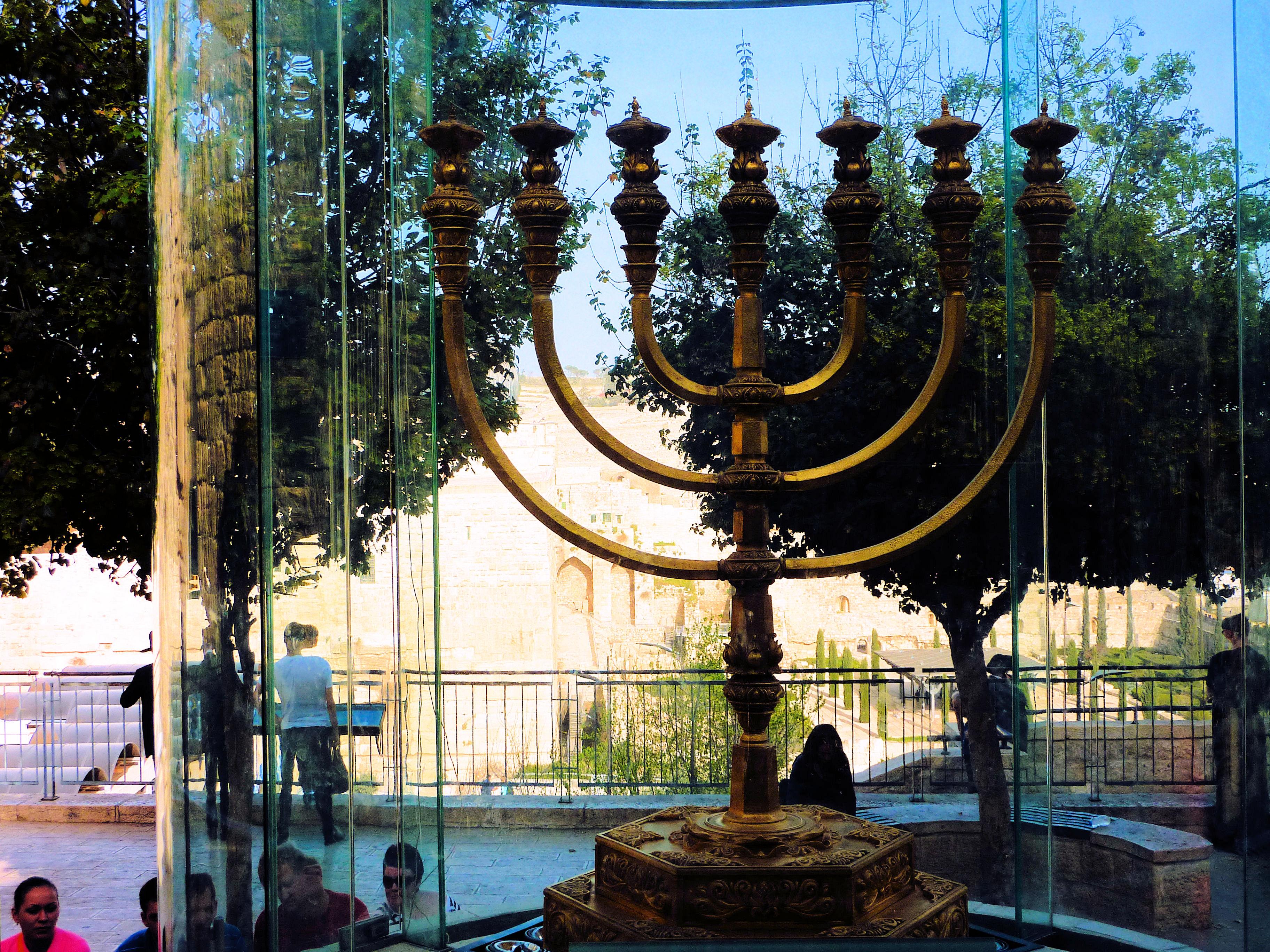 Temple Institute Holy Menorah – Western Wall Plaza, Old City Jerusalem, Israel