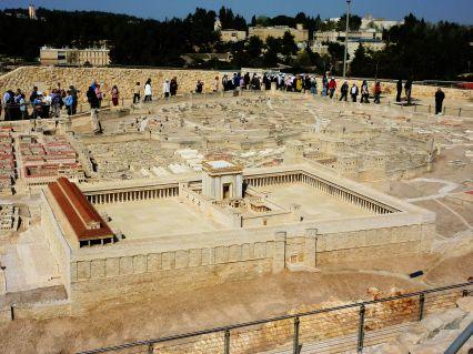 Herod's Temple in the Jerusalem Model, Jerusalem, Israel