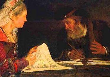 Esther and Mordechai Confer Together