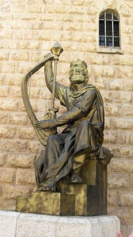 King David statue, Jerusalem, Israel