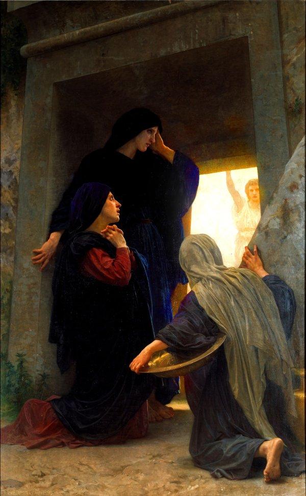 1_William Adolphe Bouguereau_Le saintes femmes au tombeau