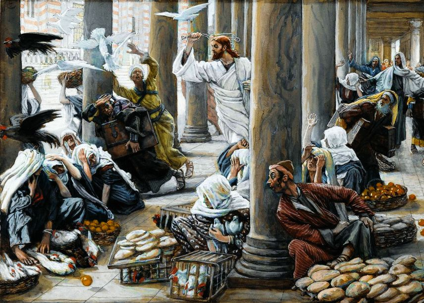 The Merchants Chased from the Temple_5x7