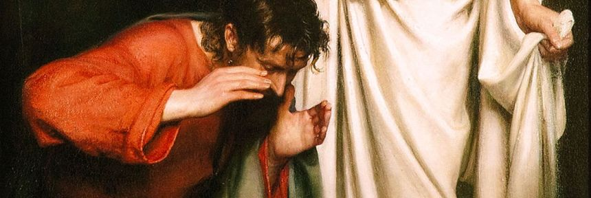 Doubting Thomas. By Carl Bloch_detail3