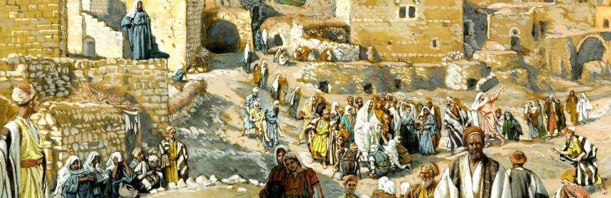 DETAIL: Il allait par les villages en route pour Jérusalem
