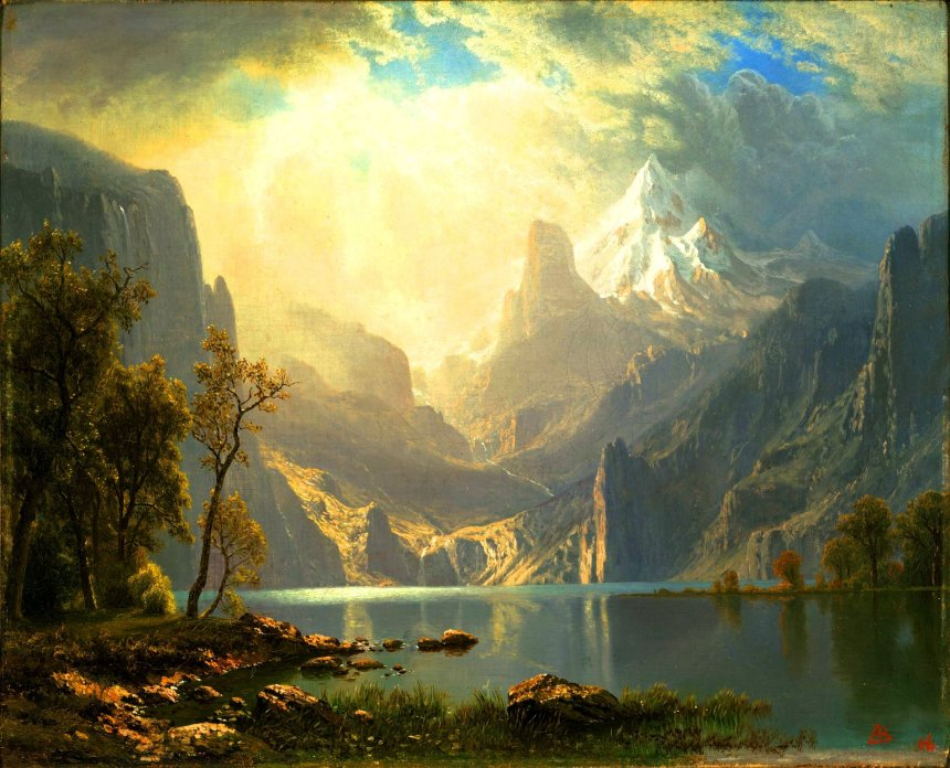 In the Sierras_Lake Tahoe_Albert Bierstadt_MKM