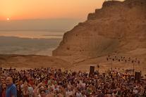 David Broza performs at Masada in celebration of Tu B'Av