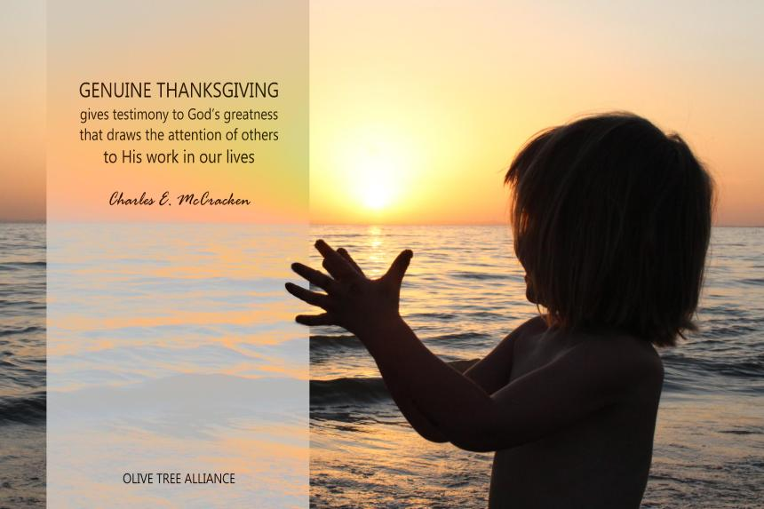 Genuine Thanksgiving_Quote by Charles E. McCracken Copyright © 2019