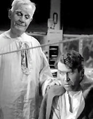 George Bailey and guardian angel Clarence