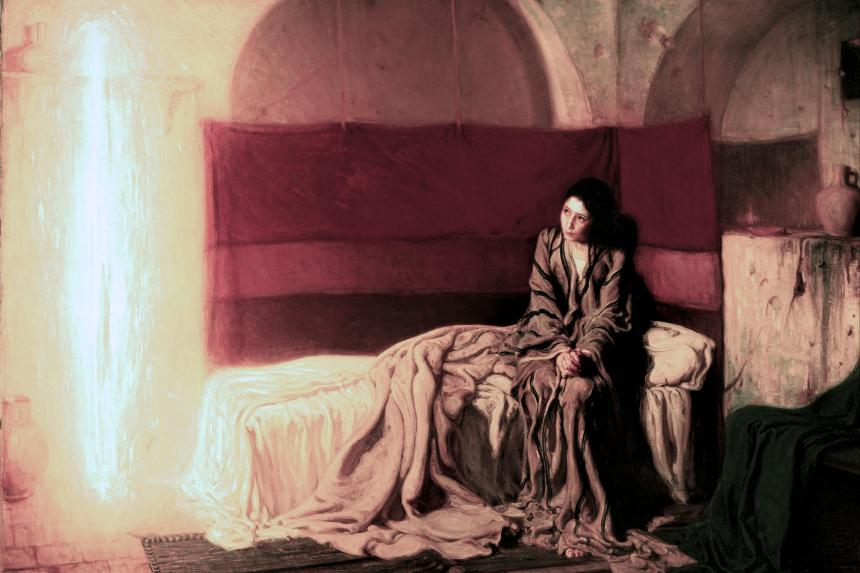 The Annunciation_Henry Ossawa Tanner_4x6