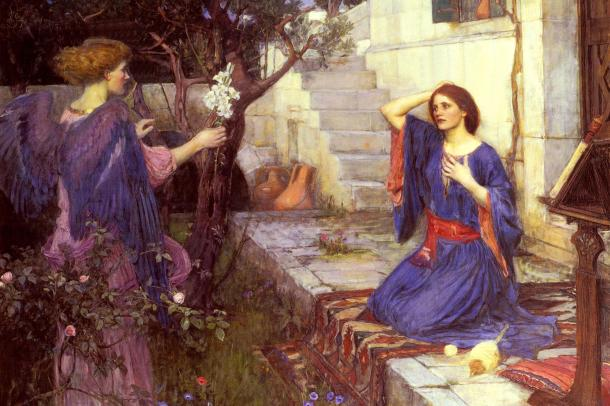 The Annunciation_William Waterhouse_4X6detail