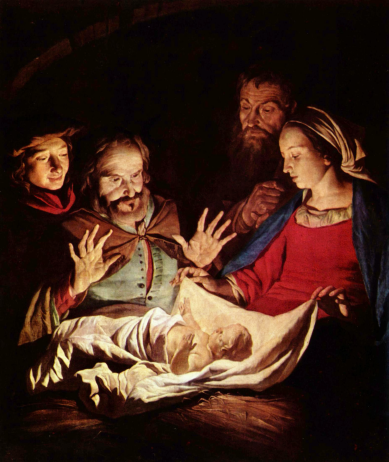 The Adoration of the Shepherds_By Matthias Stom