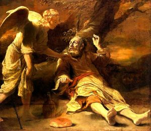 An Angel Touched Him and Said Arise and Eat, as in 1 Kings 19:1-8